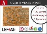 Tarjeta de circuitos del PWB del oro Fr4 de la inmersión para la electrónica de la seguridad