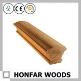 Escalier moderne en bois solide clôturant la balustrade pour la décoration