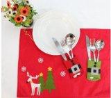 Het zilver schittert Ornamenten - Zilveren Bomen, Zilveren Sneeuwvlokken en verzilver de Vrolijke Tekens van Kerstmis - de Zakken van het Mes van Kerstmis van de Haak van de Decoratie van Kerstmis