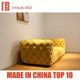 Italienisches Luxuxart-Gelb-Farbe Nubuck Sofa-gesetzte Möbel für Einstellungs-Raum