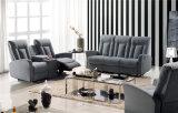 Sofa de cuir véritable de salle de séjour (779c)