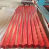 Feuille ondulée galvanisée laminée à froid de toiture de matériau de construction pour la construction