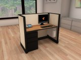 Poste de travail moderne de bureau de l'espace ouvert de disposition de modèle dans différentes options