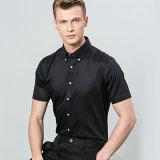 人の正方形カラーのための明白で白く粋な適合の高品質の服またはオフィスの長い袖のワイシャツ