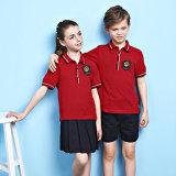 Diseño primario rojo del uniforme escolar de los cabritos de los uniformes escolares