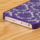 iPhone royal de Mobile Phonfor de PC de Flower Transparent Phone Cas 5 Phone Cas pour l'iPhone 5/5s/6/6 Plus