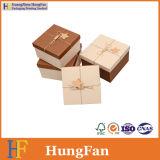 Коробка подарка упаковки ювелирных изделий картона косметическая бумажная с смычком тесемки