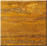 Azulejos amarillos del mármol del travertino para la pared y el suelo