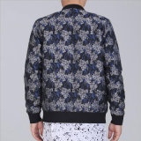 人の衣服のためのジャカードジッパーのカーディガンのジャケット