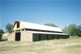 Het prefab Lichte Huis van het Dak van de Geveltop van de Structuur van het Staal (kxd-SSB21)