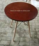 تصميم حديثة [مدف] قضيب طاولة يترأّس قضيب [بر ستوول] مع ساق خشبيّة