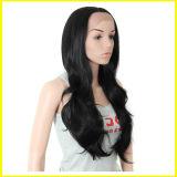 長いブラウンの巻き毛の総合的な毛のポニーテール