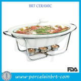 Populäres Home Restaurant Cookware Popular Home Restaurant Oval Chafing Dish mit Metal Stand