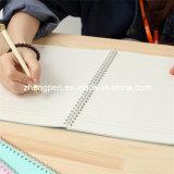 Cuaderno plástico del espiral de la cubierta