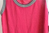 女性100%ビスコース純粋なカラーしまのある袖なしのセーター