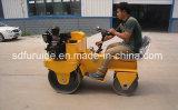 二重ドラム鋼鉄車輪の小型振動ローラー乗の800kg