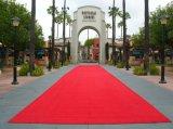 Alfombra roja al aire libre de interior movida hacia atrás PVC/Rubber de encargo del pasillo de la boda de Wed de la tela