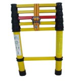 Patented 300lbs 220kv Yellow Fiberglass Telescopic Ladder