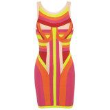 Сладостной платья повелительниц мира Цвет-Преграженные радугой ежедневные женские