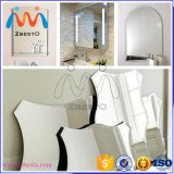 Большие серебряные круглые/длиной обрамленные зеркала для стен