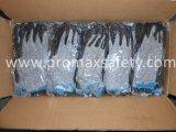 Besnoeiing 5 Handschoenen Chineema met de Zwarte Met een laag bedekte Palm van het Latex van de Kreuk