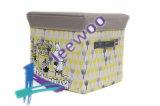 Otomano da caixa de armazenamento do assento do tamborete do descanso do pé do banco do otomano do armazenamento do Softy com alta qualidade