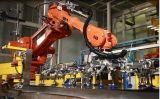 Ligne de palletisation de riz de système complètement automatique d'ensachage avec le robot Palletizer