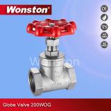 Válvula de globo 200wog do aço inoxidável de CF8m