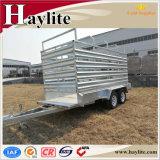 10X5 발 세로로 연결되는 차축 농장 트레일러에 의하여 사용되는 가축 가축 양 전송 트레일러