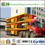 40FT Hilfsbehälter-halb Ladung-Schlussteil-Flachbett-LKW-Schlussteil