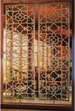 L'acciaio inossidabile speculare dorato decorativo della Rosa seleziona la tenda dei divisori