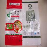 Sacchetto del riso con il sacchetto del riso dello zucchero della farina tessuto pp di stampa con la pellicola 10kg 25kg di BOPP