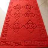 Anti-Slip Carved Door Mat tapete com PVC de volta