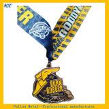 ゴム製柔らかいエナメルのスポーツのリボンメダルマラソンメダルを焼き付けなさい