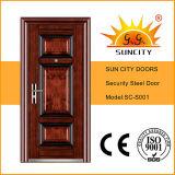 Porte en acier de sûreté de porte principale de qualité