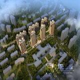 建物グループの計画のすべての空中写真のレンダリング