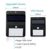 4 luz accionada solar de la seguridad del sensor de movimiento del LED PIR recargable