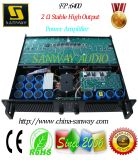 FP6400 2 Ohms Stable 2 Channel PA System, DJ Mixer Professional Power Amplifier