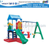 飛行機のモデル子供の屋外のプラスチックおもちゃのスライドの運動場(M11-09710)