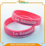 Wristband del silicone della convenienza di disegno del cliente
