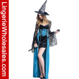 Enchantress-Halloween-Partei-langes Kleid-Hexe Cosplay Kostüm der Frauen reizvolle