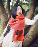 Écharpe de tricotage tricotée acrylique Muffer de la mode 100%