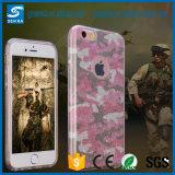 3 en 1 cubierta de papel de la caja del teléfono celular del brillo de la PC del polvo TPU para iPhone7