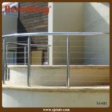 Balaustrada curvada do fio do aço inoxidável para trilhos redondos da área dos TERMAS/cabo