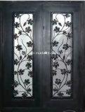 Дверь входа ковки чугуна передняя с листьями для дома