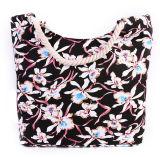 Saco impresso da praia da bolsa da corda do algodão do saco da mamã da lona da forma do saco de ombro da lona