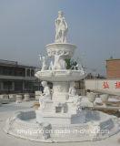 Statue/sculpture de découpage en pierre de marbre blanches pour le jardin