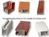 Perfil de madera del aluminio del grano de la protuberancia del material de construcción