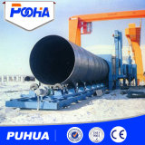 Machine automatique de sablage de tuyaux de tuyau d'acier