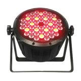 플라스틱 54X3w RGBW LED 동위 빛